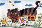 大老鼠与小白兔儿童画作品欣赏