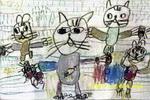 抓老鼠比赛儿童画