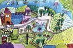 海底花园儿童水彩画