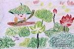 夏日荷塘图儿童画图片