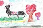快乐的毛驴儿童画图片