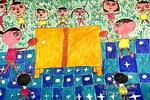 乒乓球比赛儿童画作品欣赏