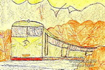 火车从我有门过儿童画作品欣赏