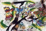昆虫乐园儿童画2幅