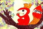 可爱的松鼠儿童画作品欣赏
