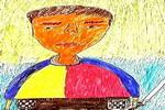 练剑的人儿童画图片