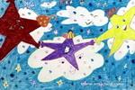 星空儿童水彩画