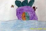 萝卜房子儿童画