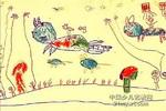 我骑大猫去郊游儿童画图片