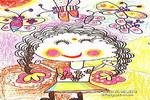我和蝴蝶一起玩儿童画作品欣赏