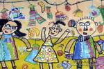 去逛街儿童画作品欣赏