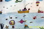 神奇的天地间儿童画