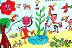 快乐的植树节儿童画作品欣赏