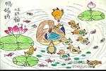 鸭妈妈儿童画作品欣赏