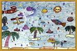美丽的太空儿童画