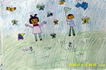 爱护自然儿童画
