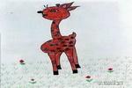 孤独的小鹿儿童画作品欣赏