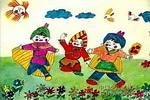 民族风情儿童画图片