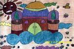 天空中的城堡儿童画