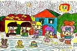 彩灯多美丽儿童画作品欣赏