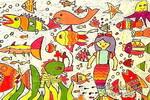 神奇的海洋儿童画作品欣赏