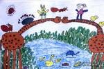 我们一起过河玩儿童画作品欣赏
