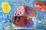 泡泡房子儿童画作品欣赏