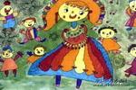 白雪公主儿童水彩画