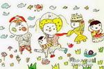 扭个迪斯科儿童画作品欣赏