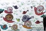 草地上的蜗牛儿童画作品欣赏