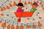 小鱼小鱼快进罐儿童画作品欣赏