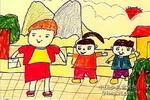 儿童 儿童画 这儿/上街儿童水彩画