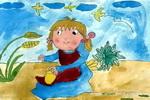拾穗儿童画作品欣赏