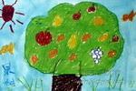 果树儿童画