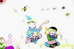 草原牧歌儿童画