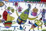 儿童画/蔬菜的舞蹈儿童画