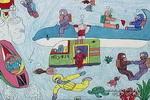 海底儿童画作品欣赏