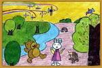 五彩缤纷儿童画2幅