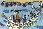 儿童画 杨宇霄/小怪物送我回家儿童画