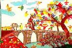 桥头儿童画