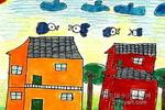 乡村小屋儿童画作品欣赏