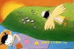 梦飞翔儿童画