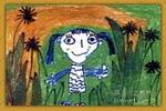 乡间小路儿童画