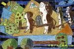 飘荡的家儿童画