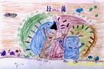 爱护大自然儿童画3幅
