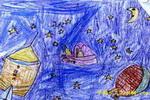 神密的宇宙儿童画
