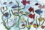 美丽的海底油画棒儿童画