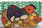 小鸡出来了儿童画作品欣赏