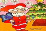 圣诞老人儿童画2幅