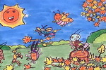 昆虫音乐会儿童画作品欣赏